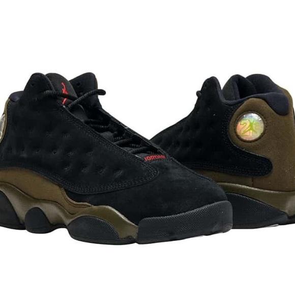 new styles ce74a 9fb14 Jordan Retro 13 Black/Olive Basketball sz 12
